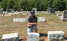Michael S Sheaffer finding his 3rd Great Grandfather's headstone 2007