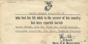 Ralph Jr official burial record