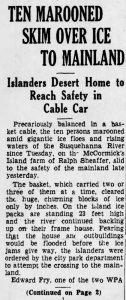 Sheaffer Family Marroned on McCormkicks Island 10 Jan 1936