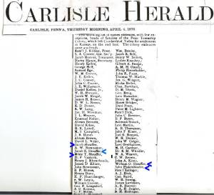 Carlisle Herald April 2, 1878